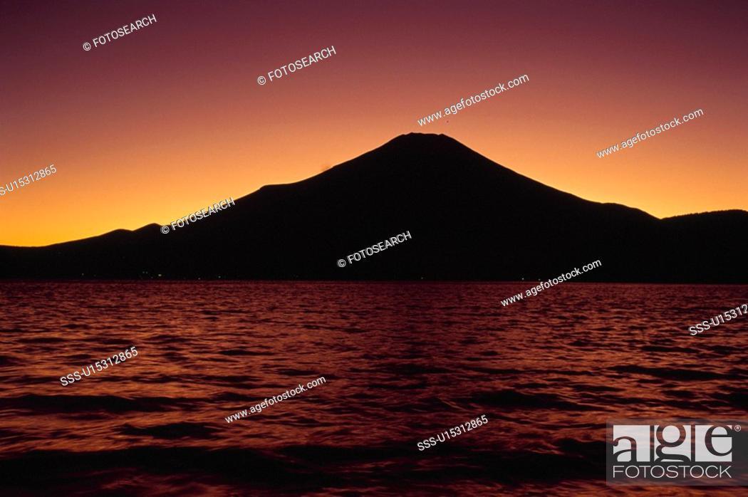 Stock Photo: Mt. Fuji And Lake Motosu.