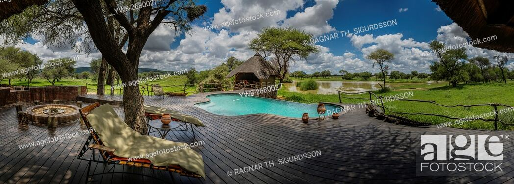 Stock Photo: Swimming Pool at Okonjima Lodge, Namibia, Africa.