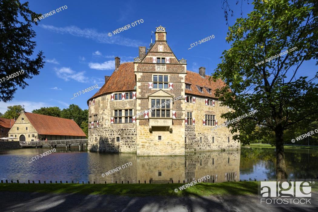Imagen: Luedinghausen, D-Luedinghausen, Stever, Muensterland, Westphalia, North Rhine-Westphalia, NRW, Vischering Castle, moated castle, knights castle, Middle Ages.
