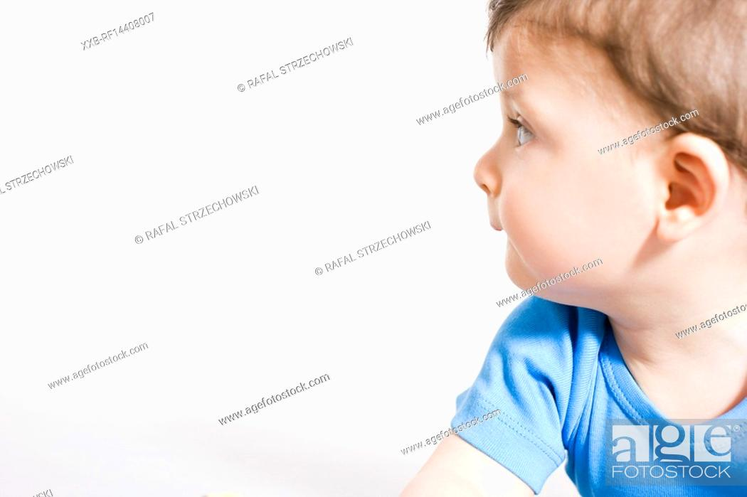Stock Photo: Close-up of baby profile.