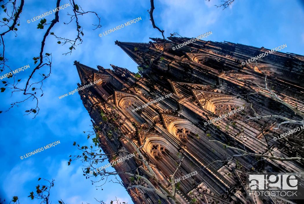 Stock Photo: The Cologne Cathedral (Kölner Dom) from below.
