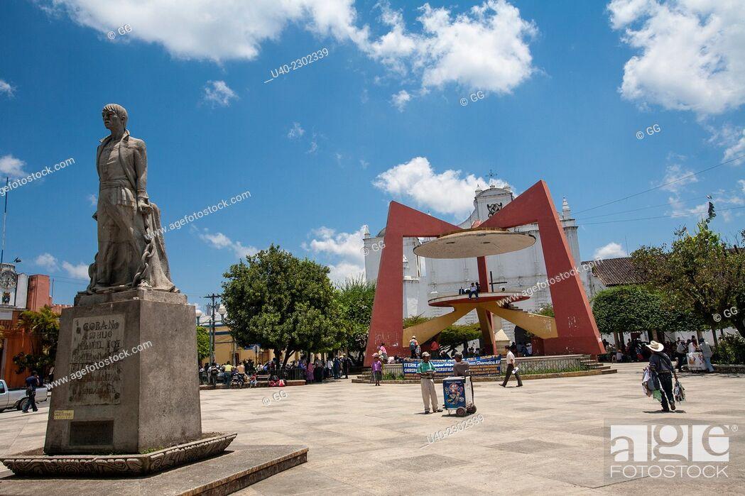 Stock Photo: Guatemala, Coban, Central Park.