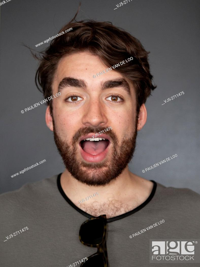 Stock Photo: Eindhoven, Netherlands, Portrait of dj Oliver Heldens just before his performance at The Flying Dutch Eindhoven.
