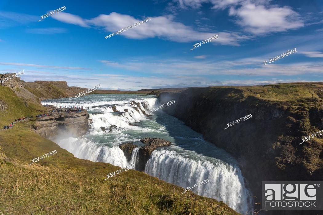 Stock Photo: Gullfoss Waterfall. Golden Circle. South Region. Iceland. Europe.