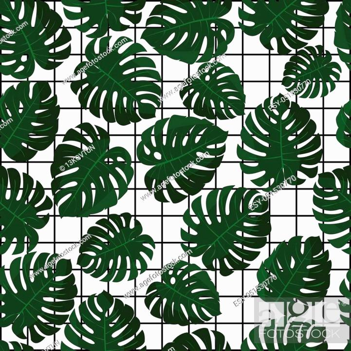 Tropical Leaves Vector Seamless Pattern In Swatch Jungle Leaves Wallpaper Stock Vector Vector And Low Budget Royalty Free Image Pic Esy 051530770 Agefotostock Hawaii background with geometric grid. https www agefotostock com age en stock images low budget royalty free esy 051530770