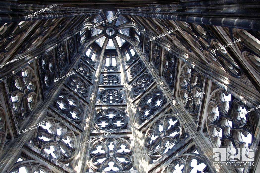 Stock Photo: Cologne Cathedral was built was built to house the relics of the Three Magi, under the direction of Archbishop Conrad von Hochstaden.