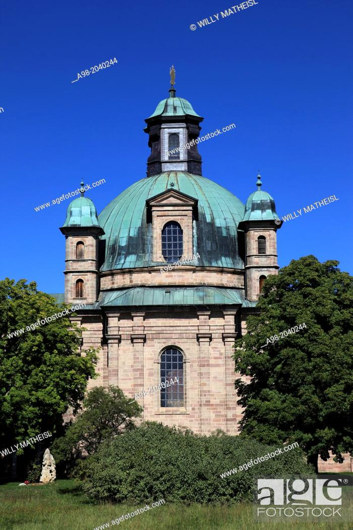 Imagen: Sanctuary, Maria-Hilf at the city Freystadt, Middle Franconia, Franconia, Bavaria, Germany.