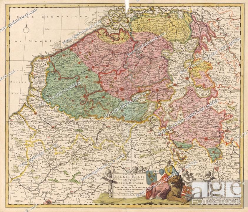 Imagen: Map of the Southern Netherlands Provinciae Belgium Regii Distinctae eo, quo Sunt hodie divisae modo Inter Regem Galliae, Hispaniae (.