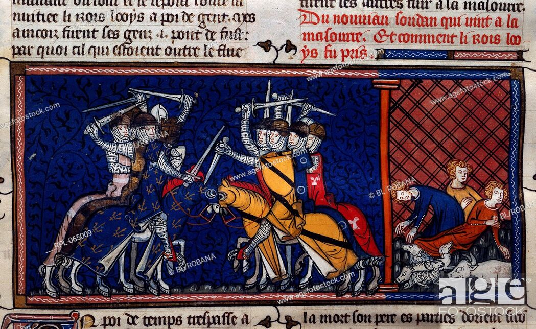 Imagen: A battle scene and deaths from pestilence. The crusades.
