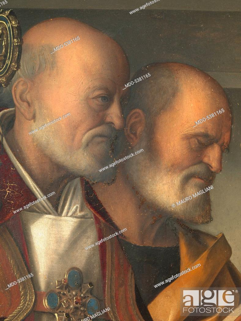 Imagen: Frari Triptych, by Giovanni Bellini, 1485 - 1488 about, 15th Century, panel, cm 184 x 79.