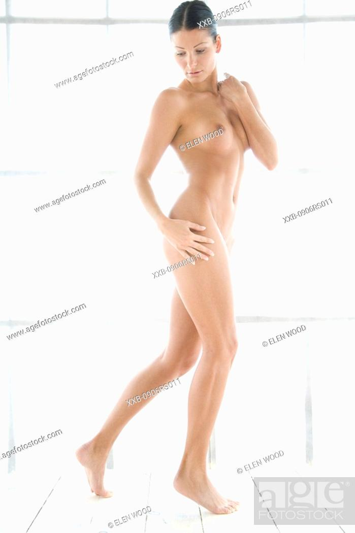 Stock Photo: nude woman standing.