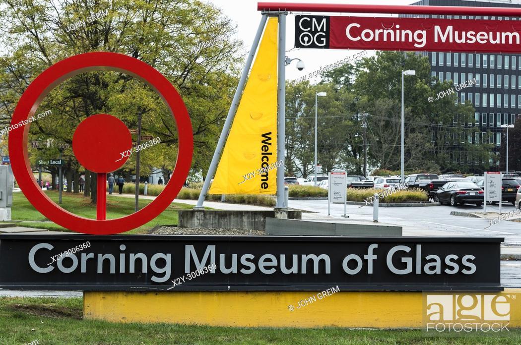 Stock Photo: Corning Museum of Glass, Corning, Steuben County, New York, USA.