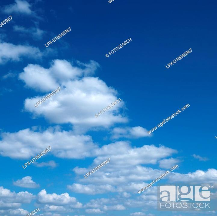 Stock Photo: Clouds in blue sky.