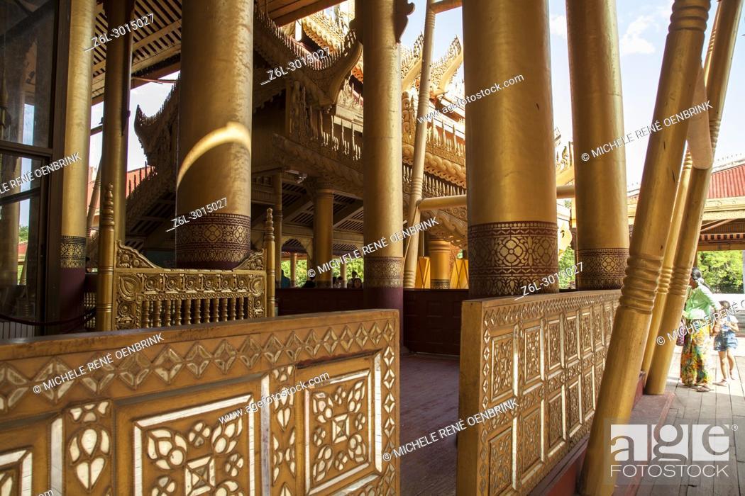 Stock Photo: Gold doorway in Mandalay Royal Palace in Mandalay Myanmar.
