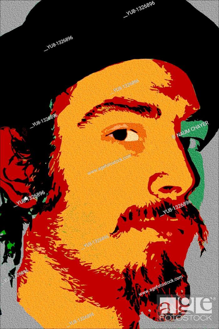 Stock Photo: Digitally altered portrait of artist.