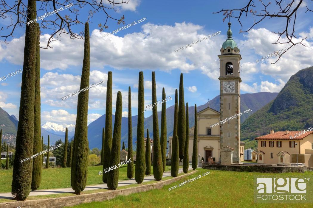 Stock Photo: Sant'Abbondio, Montagnola, Collina d'Oro, Ticino, Switzerland.
