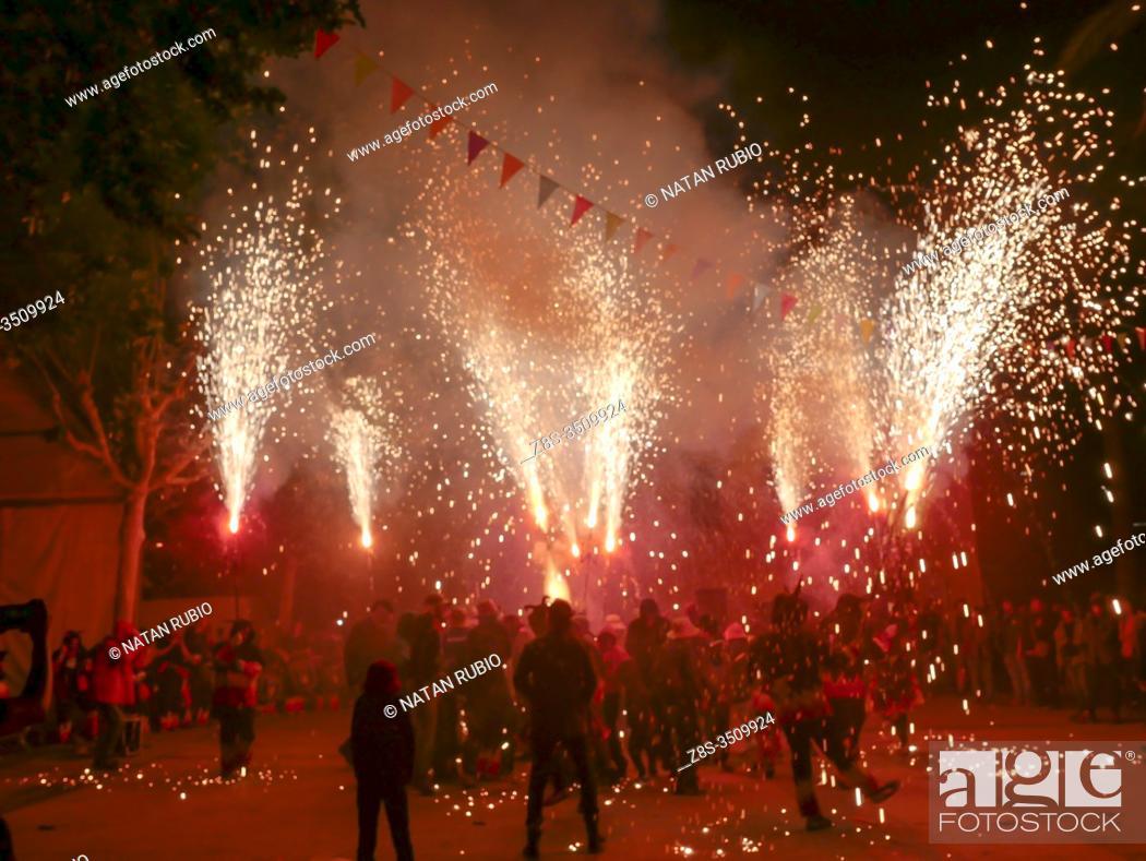 Stock Photo: Catalan tradition, Els dimonis, .