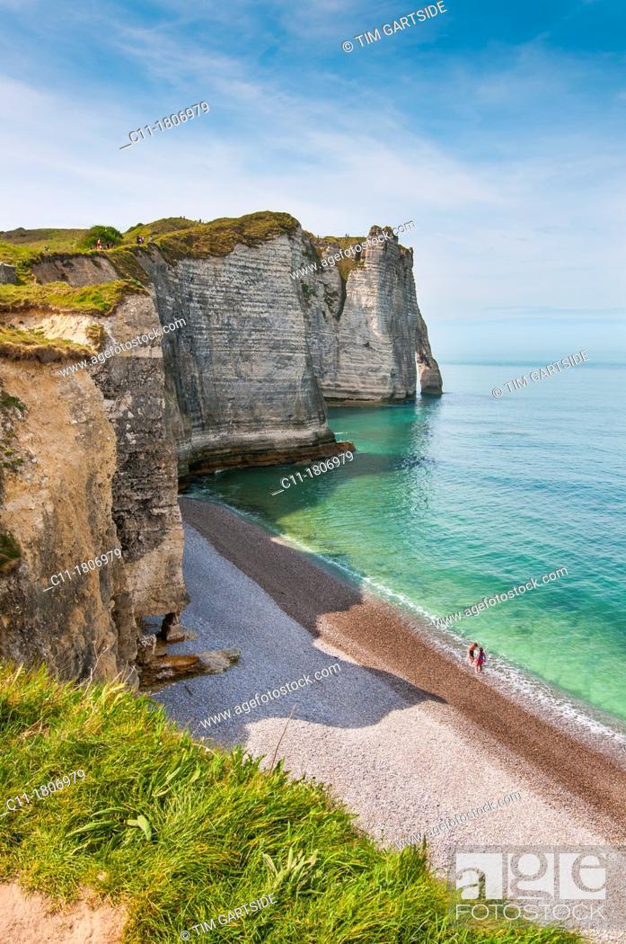 Imagen: France, Normandy, Coast, Etretat, France, Europe.