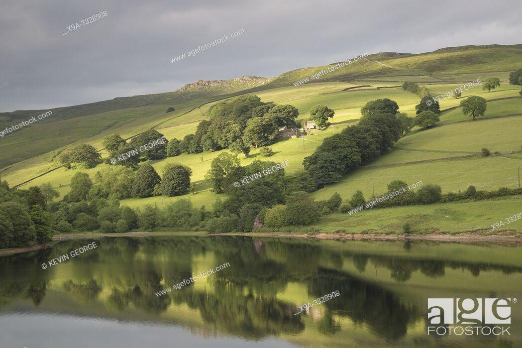 Stock Photo: Ladybower Reservoir, Peak District; England; UK.