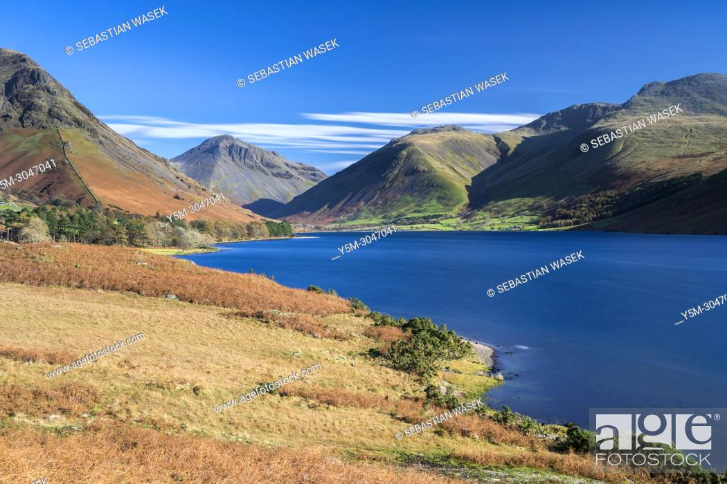 Stock Photo: Wast Water, Lake District National Park, Cumbria, England, United Kingdom, Europe.