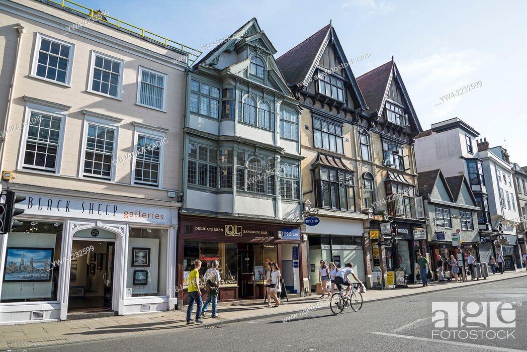 Stock Photo: High Street, Oxford, England, UK.