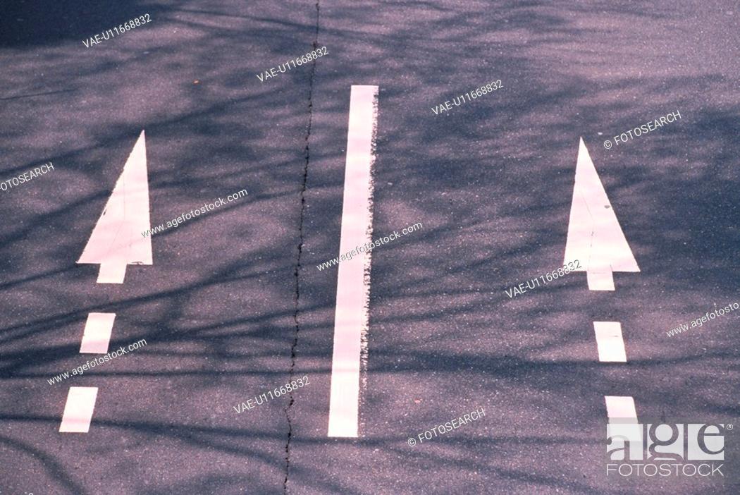Stock Photo: Arrow Road Marking.