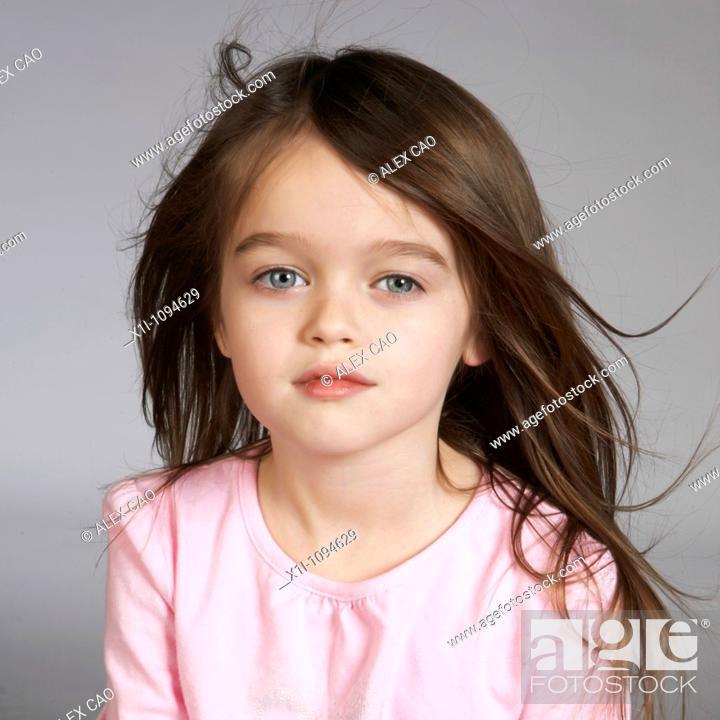 Stock Photo: Portrait of girl.