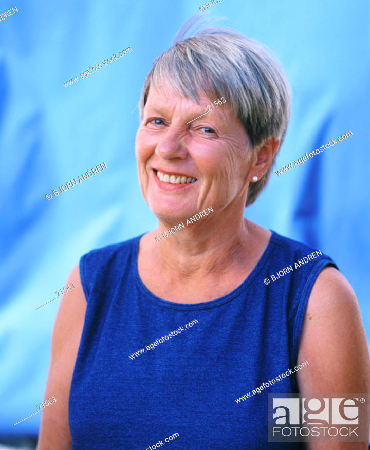 Stock Photo: Middle aged woman.