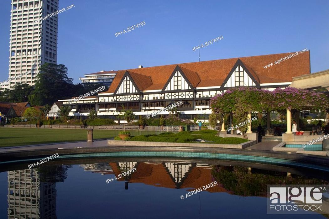 Stock Photo: Malaysia - Kuala Lumpur, The Royal Selangor Club in Merdeka Square.