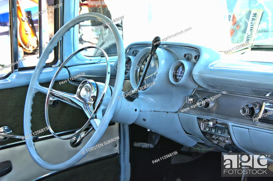 A Chevrolet Bel Air Built In 1957 Detail Of The Interior