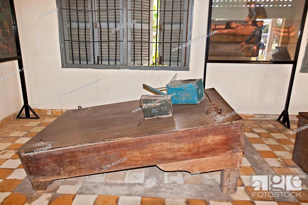 Stock Photo: Tuol-Sleng-Genozid-Museum, Phnom Penh, Kambodscha, Südostasien Tuol Sleng Genocide Museum, Phnom Penh, Cambodia, Southeast Asia.
