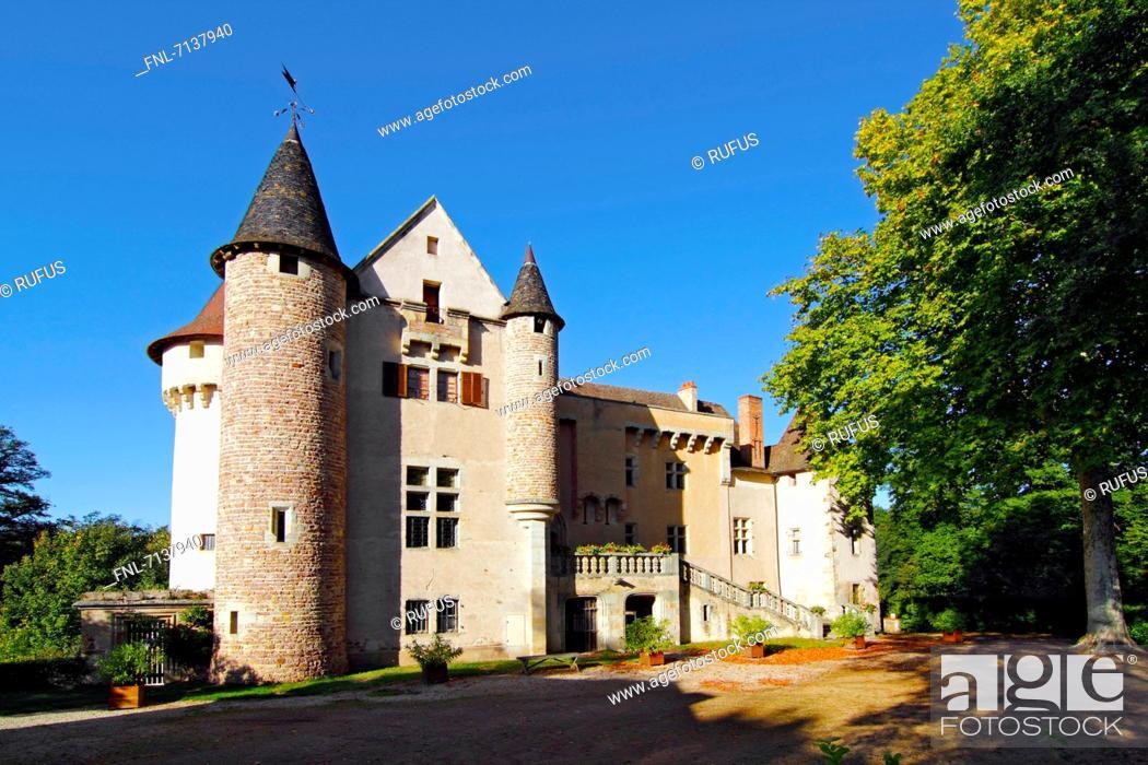 Stock Photo: Château d'Aulteribe, Departement Puy-de-Dome, Auvergne, France, Europe.