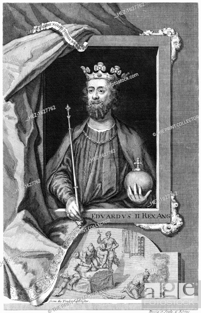 Stock Photo: Edward II of England. From the tomb at Gloucester Cathedral.