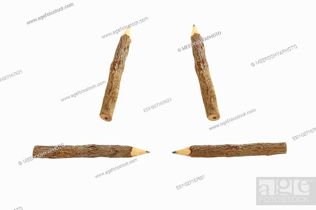Stock Photo: Wooden Pencil on white background with clipping paths.
