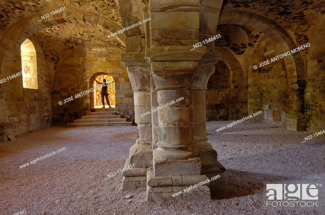 Stock Photo: Ruins of Santa Maria de Moreruela Cistercian monastery (12th century), Granja de Moreruela, Zamora province, Castilla-Leon, Spain.