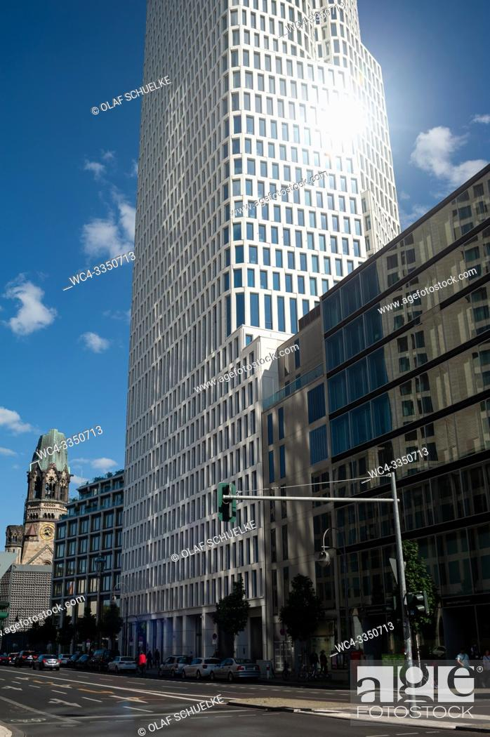 Imagen: Berlin, Germany, Europe - Tower of the Upper West building complex along Kurfuerstendamm in Berlin Charlottenburg. The building was designed by Christoph.