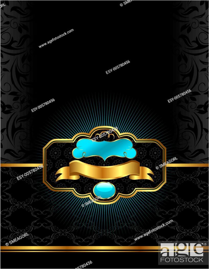 Stock Vector: golden luxury background.