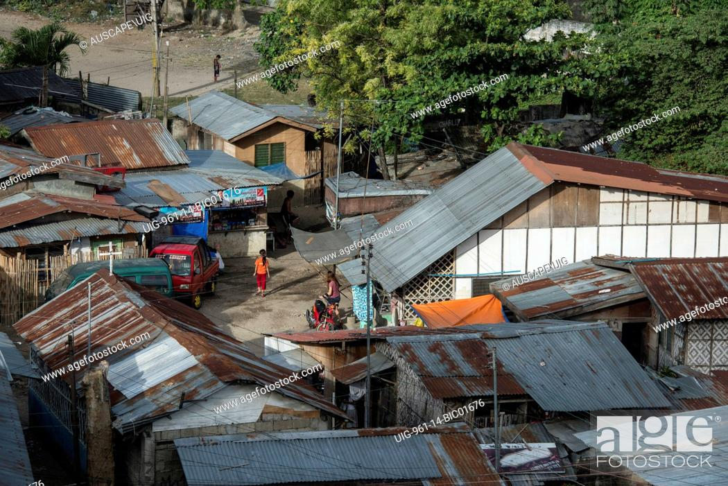 Slum housing, Philippines, Stock Photo, Picture And Rights