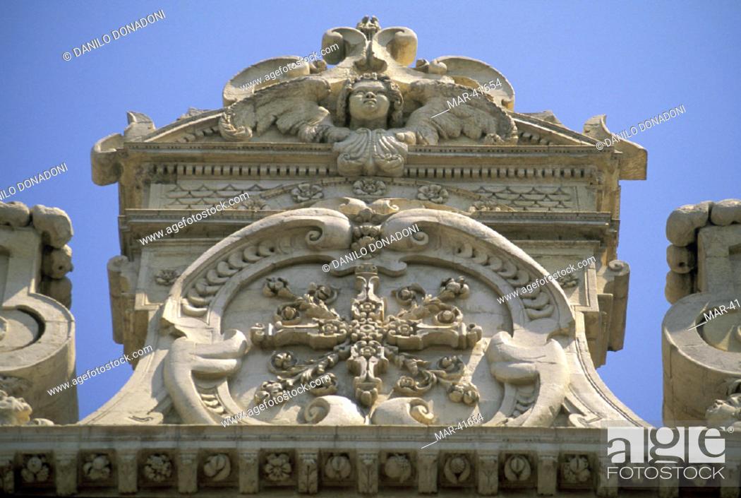 Stock Photo: st. croce church, lecce, italy.