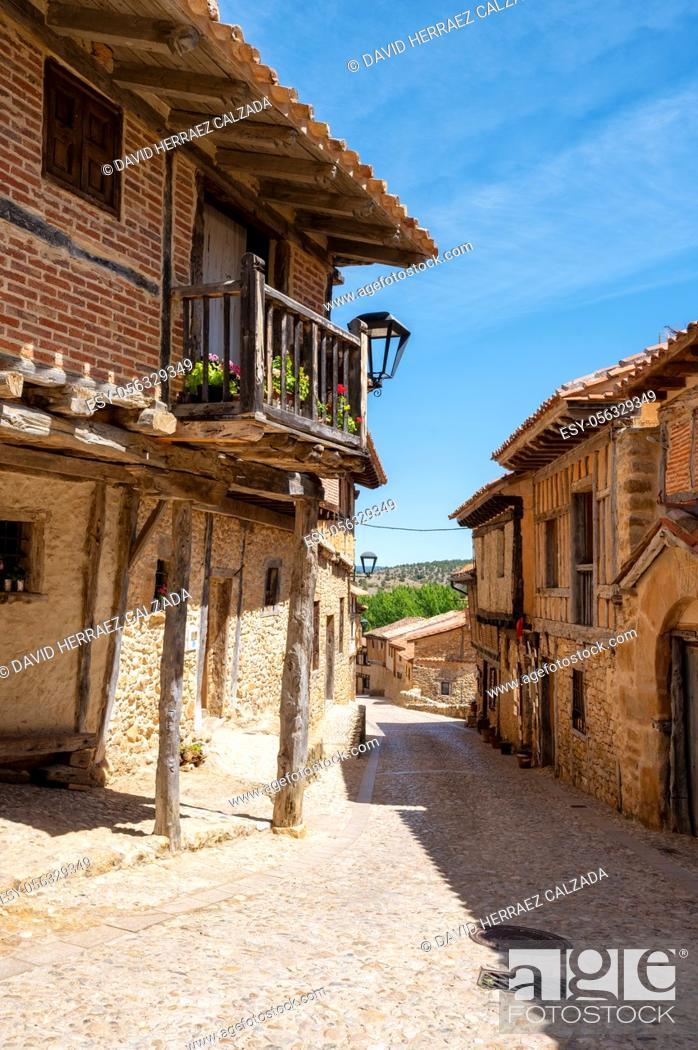 Stock Photo: Medieval village of Calatanazor in Soria, Castilla y Leon, Spain. High quality photo.