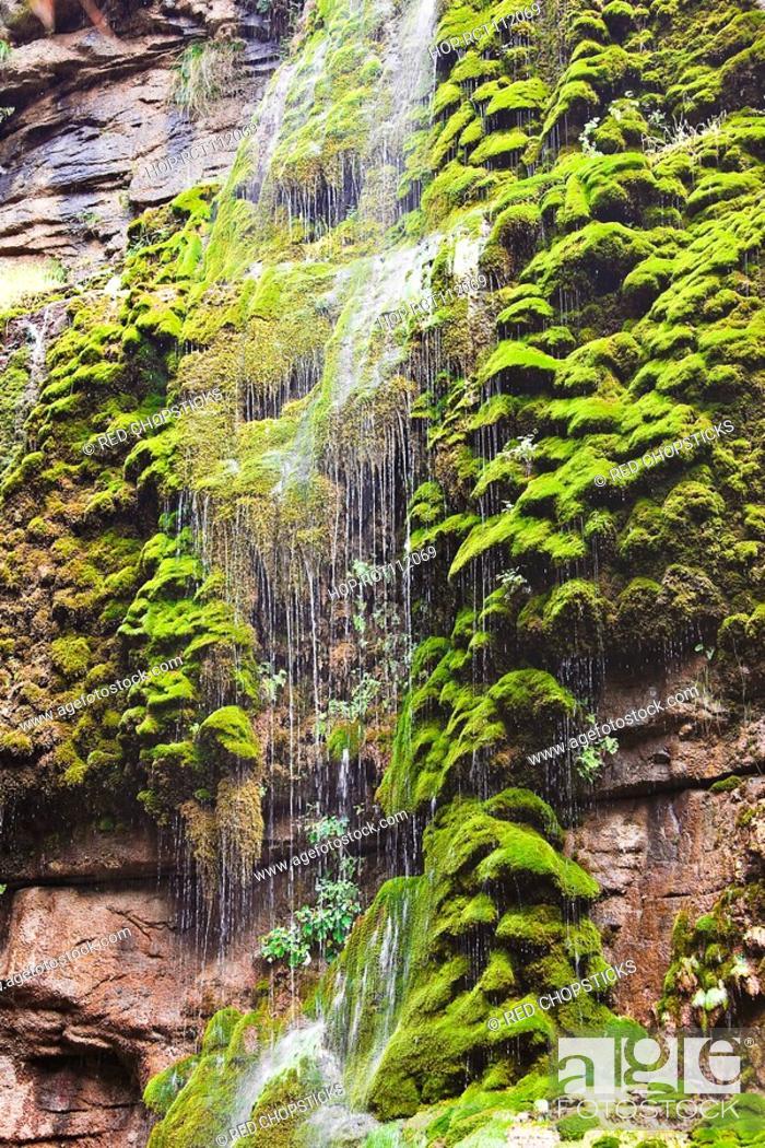 Stock Photo: Waterfall on a mountain, Mt Yuntai, Jiaozuo, Henan Province, China.