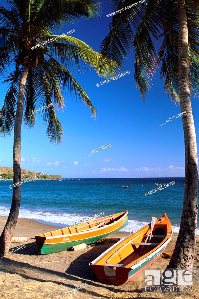 Stock Photo: Caribbean - Martinique - Arlet's coves - Grande Anse.