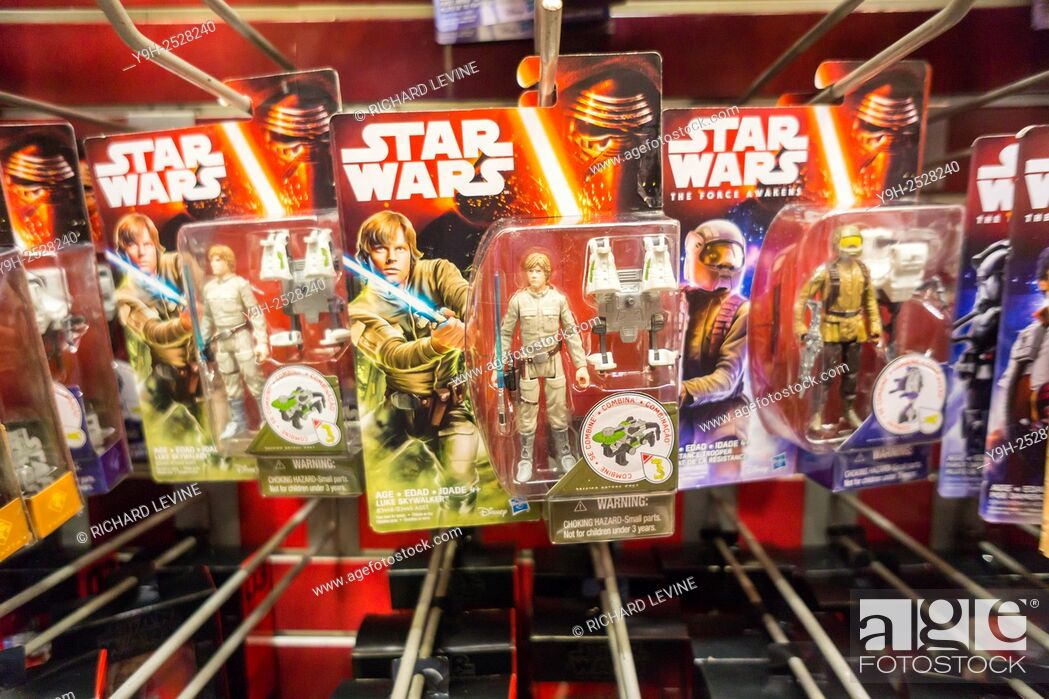 Star Wars merchandise in the Toys R Us store in Times Square