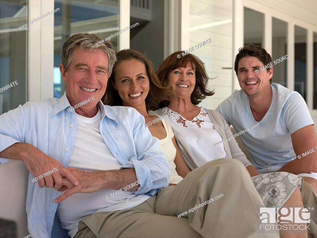 Stock Photo: Couple in family.