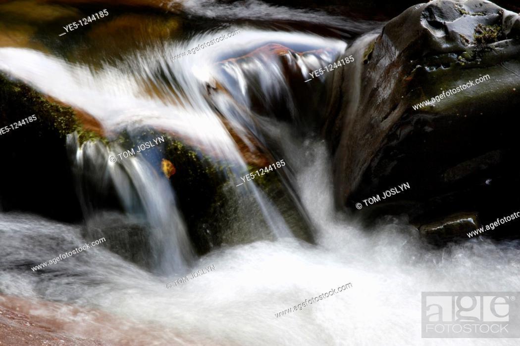 Stock Photo: Waterfall in the Western Highlands, Kilmore, Argyll , Scotland , UK.
