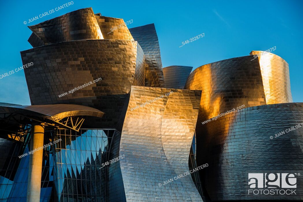 Stock Photo: Guggenheim Museum in Bilbao. Basque Country. Spain. Europe.