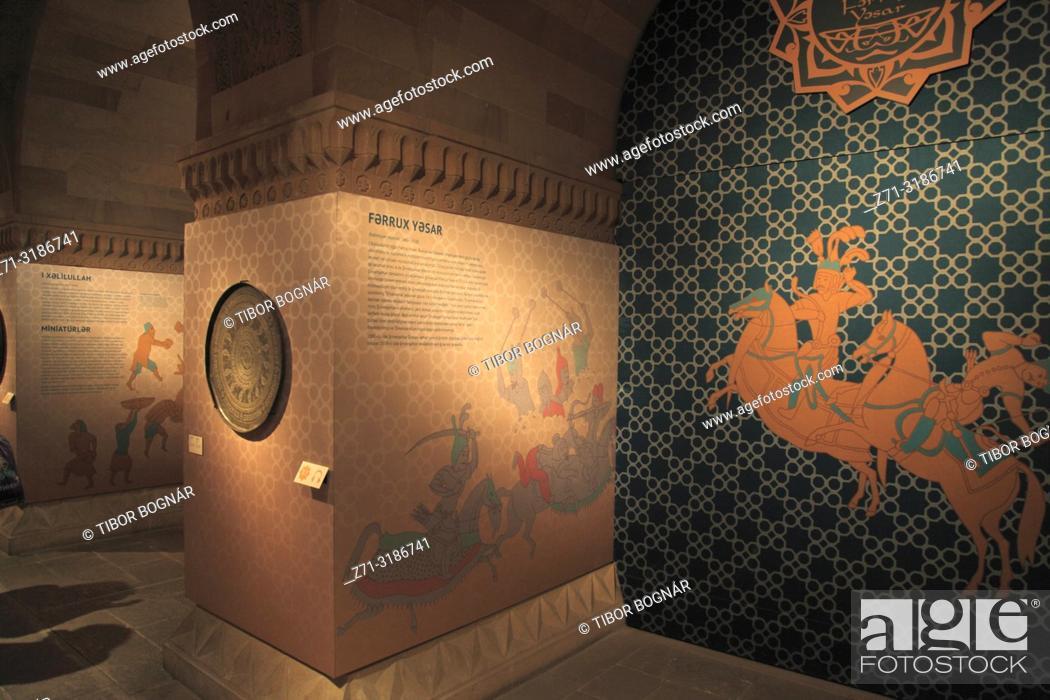 Stock Photo: Azerbaijan; Baku, Old City, Palace of the Shirvanshahs, interior,.