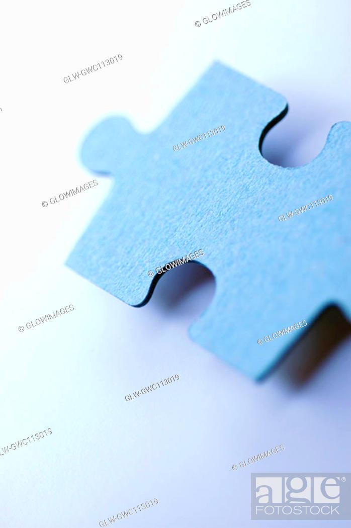 Stock Photo: Close-up of a jigsaw piece.