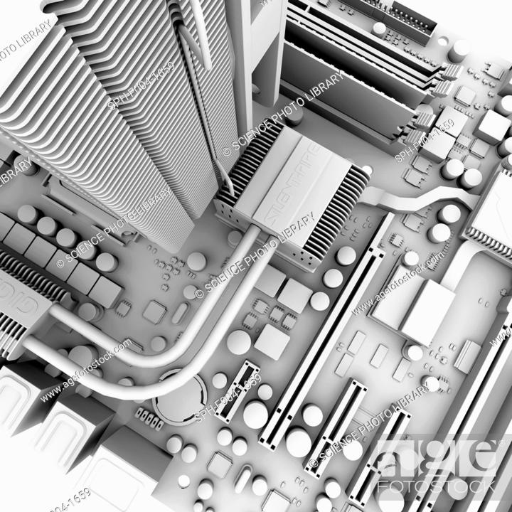 motherboard computer artwork of the main circuit board motherboardstock photo motherboard computer artwork of the main circuit board motherboard of a personal computer pc motherboard components include transistors,