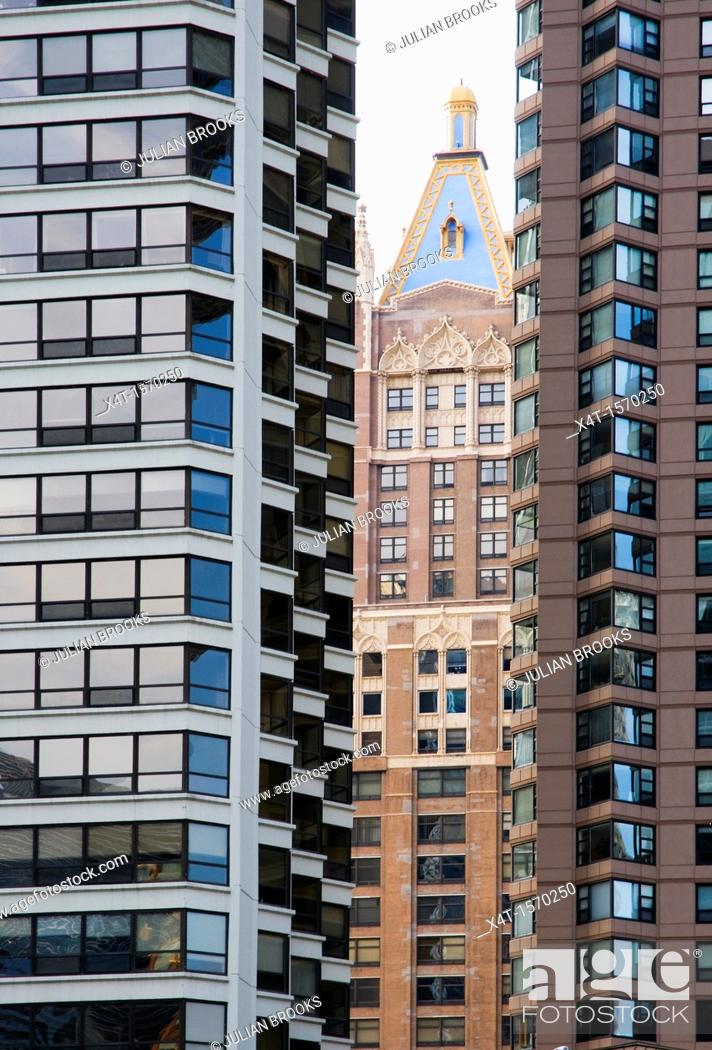 Stock Photo: buildings in Chicago, Illinois, the old and the new.